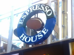 Map over Espresso Houses in Stockholm